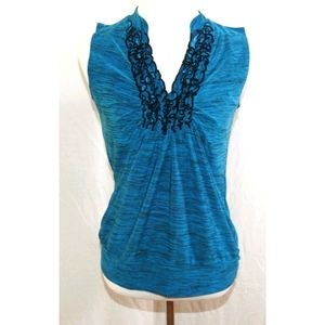 Susan Lawrence V-neck Sleeveless Top Size Small